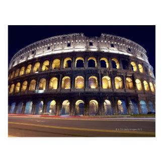 Natt som skjutas av Colosseum Vykort