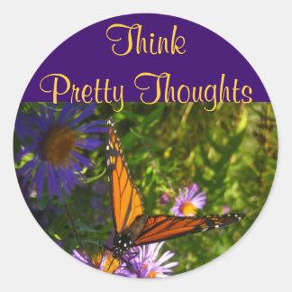 Nätt tankeklistermärkear för tänka runt klistermärke
