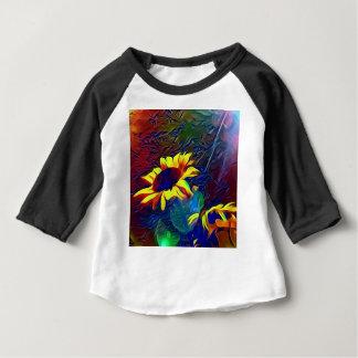 Nätt vibrerande konstnärliga solrosor t shirt