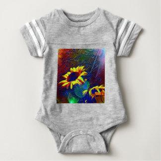 Nätt vibrerande konstnärliga solrosor tshirts