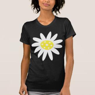 Nätt vit- & gultblommasvart & vitT-tröja Tröjor