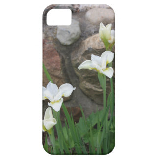 Nätt vitblommor & stenar iPhone 5 cases