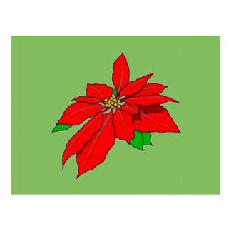 Nätt vykort för julPointsettia julstjärna