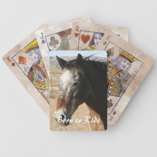 Nätt western Appaloosahäst - Spelkort