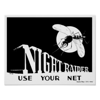 Nattanfallare -- WWII-Malaria Poster