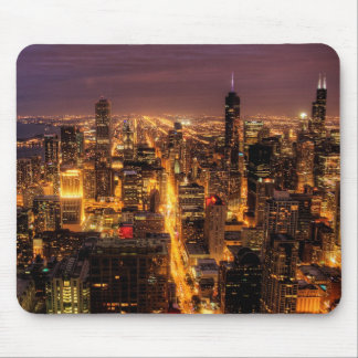Nattcityscape av Chicago Mus Mattor