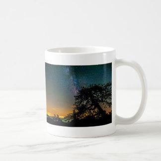 Natthimmel från berg kaffemugg