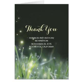 nattljuselegant bröllop tackar dig kort