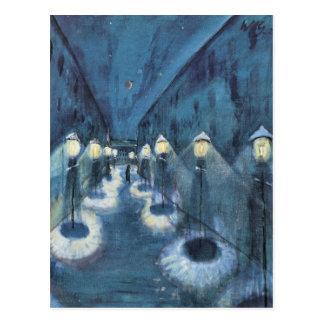 Nattväg av Walter Gramatte Vykort