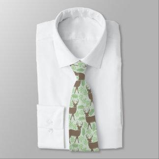 Natur för älgmönstergrönt slips