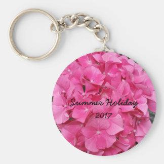 Natur för fotografi för rosablomma blom- rund nyckelring