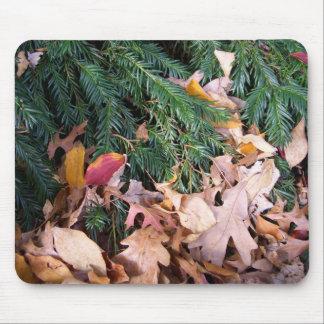 Natur för helgdag för löv för julgrangran musmatta