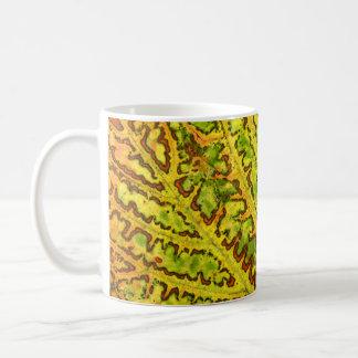 natur för växt för mönster för struktur för kaffemugg
