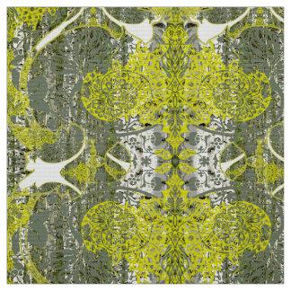 Natur i grönt tygmönster tyg