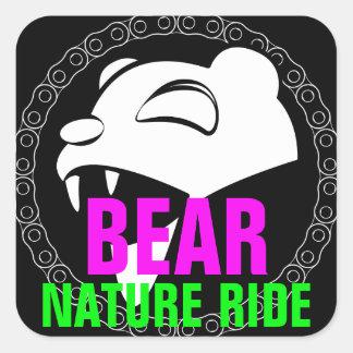 Naturbjörn Fyrkantigt Klistermärke