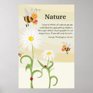 Naturcitationstecken - George Washington Carver Poster
