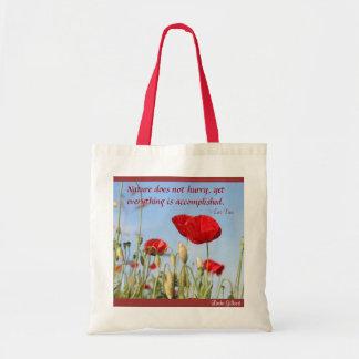 Naturen skynda sig inte .poppies-himmel, Linda Gil Tygkasse