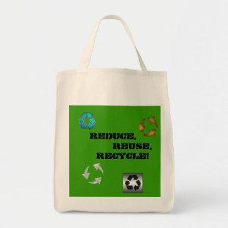 Naturlig återvinningsbar matkasse - tygkasse