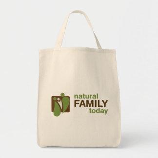 Naturlig familjtoto mat tygkasse