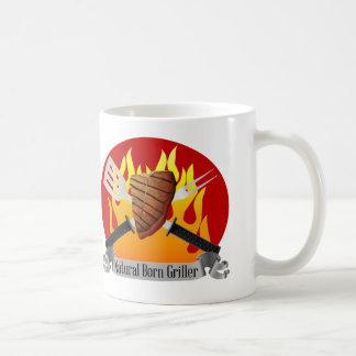 Naturlig född gåva för BBQ för Grillermuggfars dag Kaffemugg