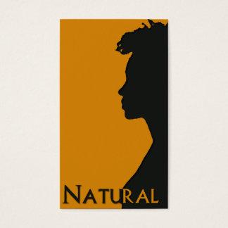 Naturlig hårbusinesscard visitkort