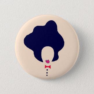 naturlig hårkonst klämmer fast standard knapp rund 5.7 cm