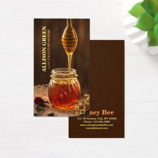 Naturlig honung för Skincare ansikts- Visitkort