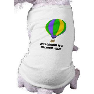 Naturlig kickT-tröja för luftballong Husdjurströja