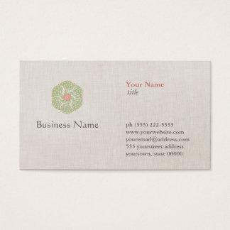 Naturlig medicinyrkevisitkort visitkort