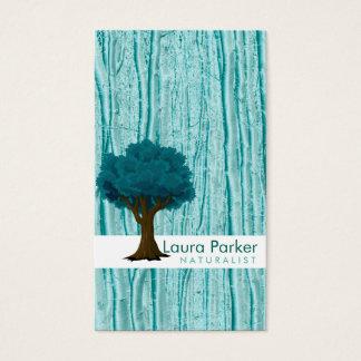 Naturlig omsorg för skogkrickaträd landskap visitkort