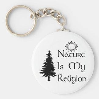 Naturlig religion rund nyckelring