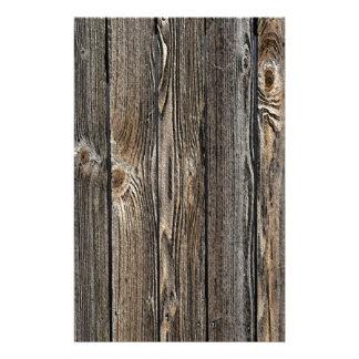 Naturlig Wood bakgrund Brevpapper