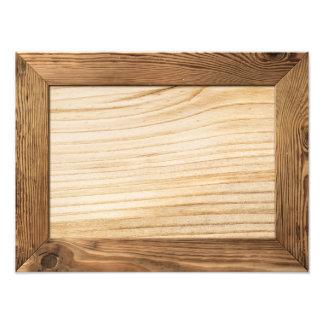 Naturlig Wood ram med träplankainsida Fototryck