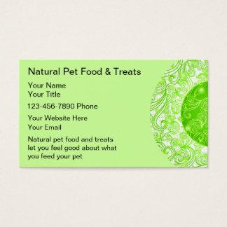 Naturliga älsklings- matvisitkortar visitkort
