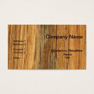 Naturliga Wood yrkesmässiga visitkortar Visitkort