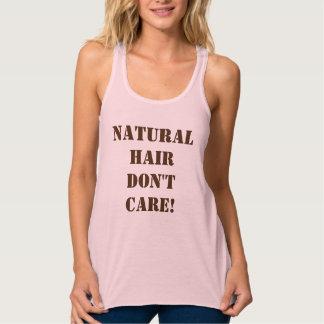 Naturligt hår att bry sig inte linne med racerback