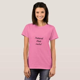 Naturligt hår vaggar tshirten t-shirt