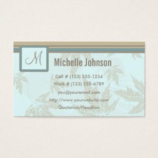 Naturligt initialt profilerar och visitkorten visitkort
