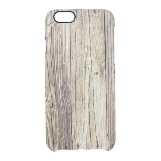 Naturligt ridit ut trä stiger ombord från gammal clear iPhone 6/6S skal
