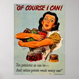 Naturligtvis kan jag! Propaganda för vintage WWII Poster
