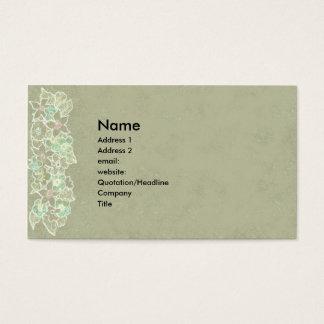naturvisitkort på taupe med subtila blommor visitkort