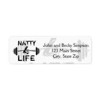 Naty logotypbära för 4 liv returadress etikett