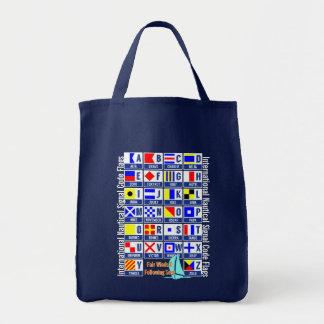 Nautisk alfabetflaggor mat tygkasse