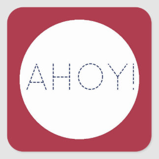 Nautisk baby shower Ahoy! Kuvertet förseglar Fyrkantigt Klistermärke