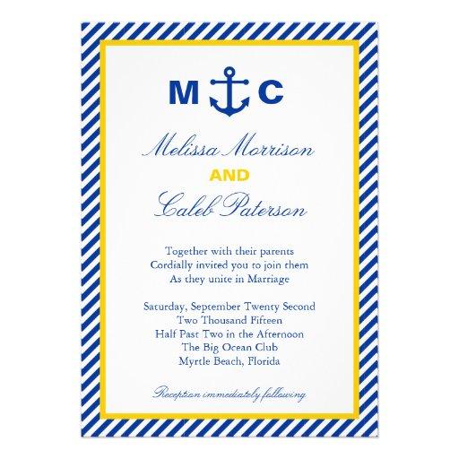 Nautisk bröllopinbjudan inbjudningar