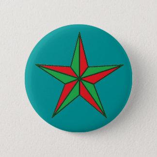 Nautisk julstjärna standard knapp rund 5.7 cm