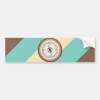 Nautisk kompass på för blåttkräm för vintage Retro Bildekal