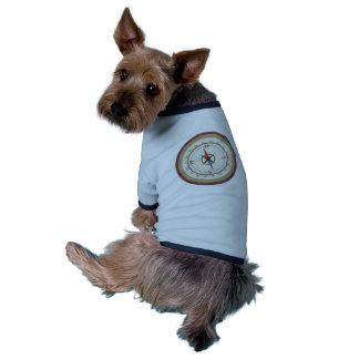 Nautisk kompass på för blåttkräm för vintage Retro Hund Tee