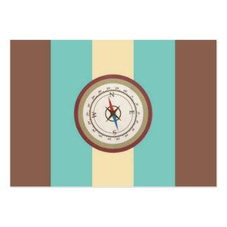 Nautisk kompass på för blåttkräm för vintage Retro Visitkort Mallar