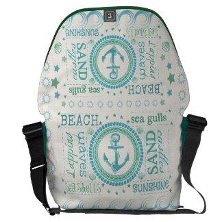 Nautisk messenger bag för strandtypografiRickshaw